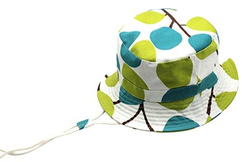 DEMU Baby Kleinkinder Fischerhut Strandhut Sommerhut Sonnenschutz Kappe Mütze (Baum, Hut Umfang 50cm)