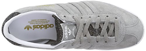 adidas Originals Gazelle Og Unisex-Erwachsene Sneakers Grau (Ch Solid Grey/Ch Solid Grey/Ftwr White)