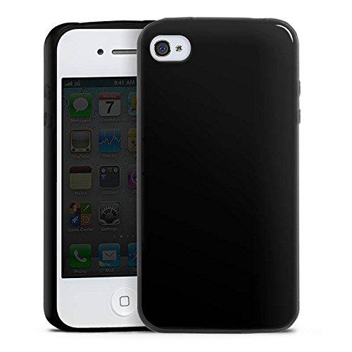 (Apple iPhone 4 Slim Case schwarz Silikon Hülle Schutzhülle Zombie Halloween ohne Hintergrund)
