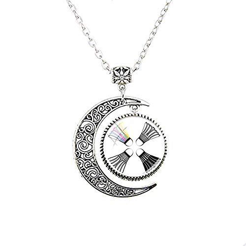 Halskette mit Badminton-Mond, als Geschenk für Freunde, Vintage-Stil, Foto-Schmuck, handgefertigter Schmuck