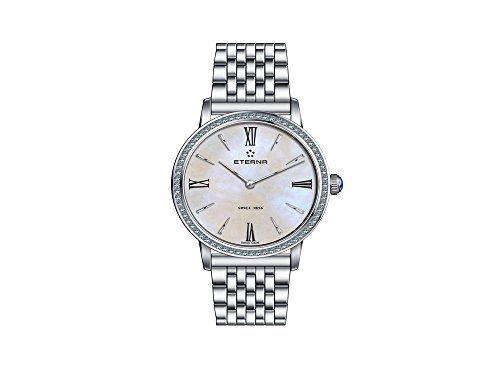 Eterna Eternity Lady Quartz Watch, ETA 956.412, 32mm, Diamonds, Mother of Pearl