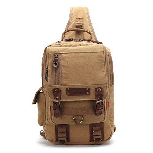 Imagen de uwild ® crossbody del hombro  bolsa de viaje honda  sin honda del morral del hombro del bolso del bolso táctico beige