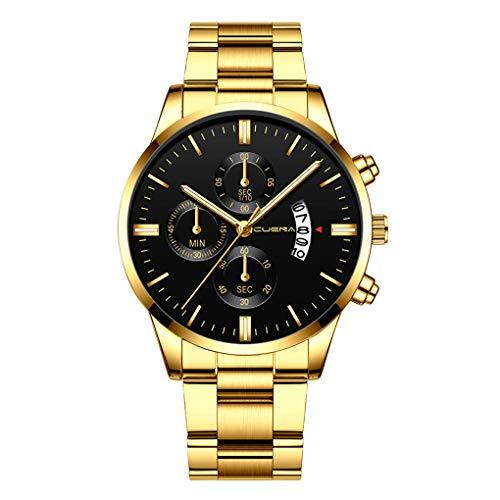 Armbanduhr für Heren/Skxinn Männer Minimalistischen Wasserdicht Männer Armbanduhr Mode Elegant Geschäft Schwarz Quarz mit Edelstahl Armband,Luxury Herrenuhren Ausverkauf