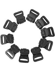 10pcs Plástico Negro Clips Carpa Toldo Acampar C Para Postes 7mm-10mm