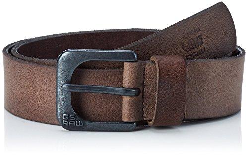 G-STAR RAW Zed Belt, Cintura Uomo, Braun (Strato/Black Metal 6355), 80 (Taglia Produttore 80)