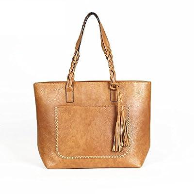 Tassel Femmes en cuir sacs à bandoulière Sacs à main avec poignée de causalité rétro Tote Designer Grand Shopping Sacs à l'expédition de baisse