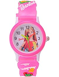 SWADESI STUFF Analogue Girls' Watch (Multicolour Dial Pink Colored Strap)