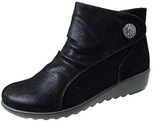 Cushion Walk Womens Ladies Lightweight Zip Up Girls Casual Comfort Ankle Boots UK Sizes 4-8