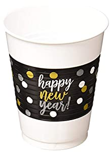 Amscan International-Vaso de plástico (420133473ml-printedcups Pr pl NY 16oz