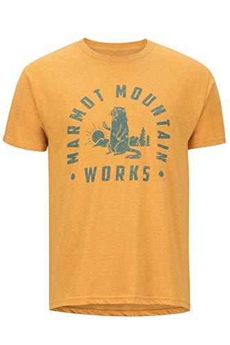 Marmot Herren Chordata Tee Short Sleeve T-Shirt Kurzarm, Funktionsshirt, Schnell Trocknend & Atmungsaktiv, Aztec Gold Heather, M - Aztec-herren Shirt