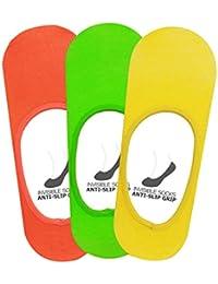 Supersox Men's Loafer Anti Slip No Show Socks Pack of 3