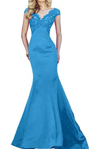 TOSKANA BRAUT Glamour Rot Spitze Promkleider Lang Meerjungfrau Damen  Abendkleider Partykleider Blau