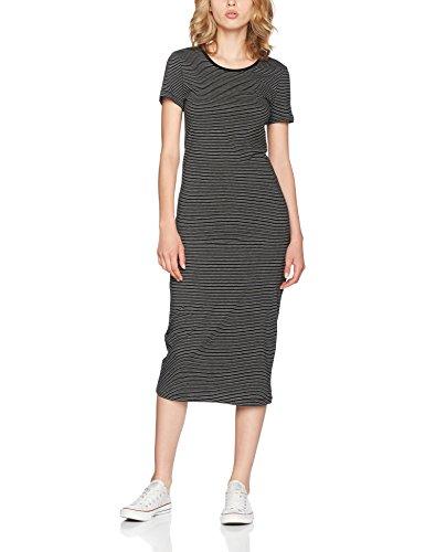 ONLY Damen Kleid 15112079, Maxi, Gestreift Mehrfarbig (Black Stripes:Black AND LGM)