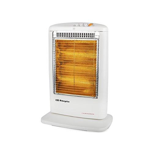 Orbegozo BP 0303 Calentador halógeno eléctrico 1200 W, Blanco