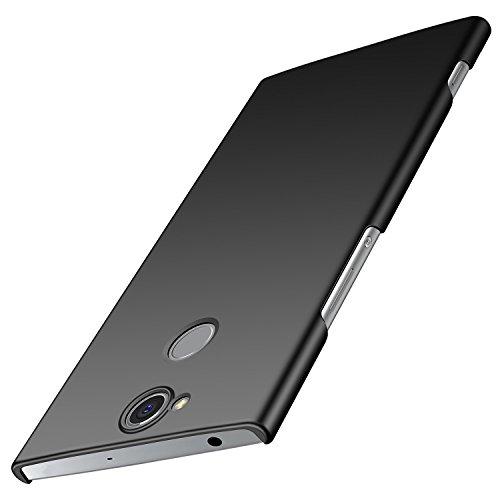 anccer Sony Xperia XA2 Plus Hülle, [Serie Matte] Elastische Schockabsorption und Ultra Thin Design für Sony XA2 Plus (Nicht für Sony XA2) (Glattes Schwarzes)