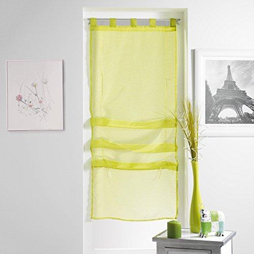 Douceur d'Intérieur Lissea Store Forme Droite Voile Sable Polyester Menthe 180 x 45 cm