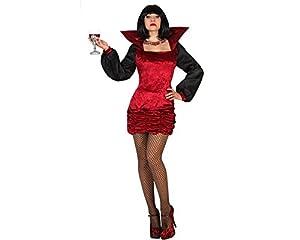 Atosa-22249 Guerrero Disfraz Vampiresa, Color rojo, X-Large (6980)