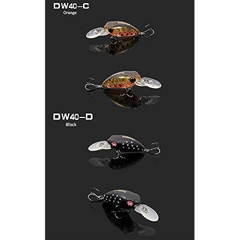 gopky (TM) Trulinoya 3d Emulational Bare King Mini pesca esche hard esca con gancio Treble Hook 32mm 2,7G 11colori dw40-l, Black