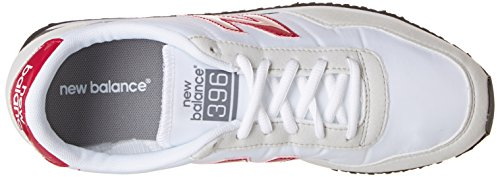 New Balance U396v1, Baskets Homme Blanc (White/Red)