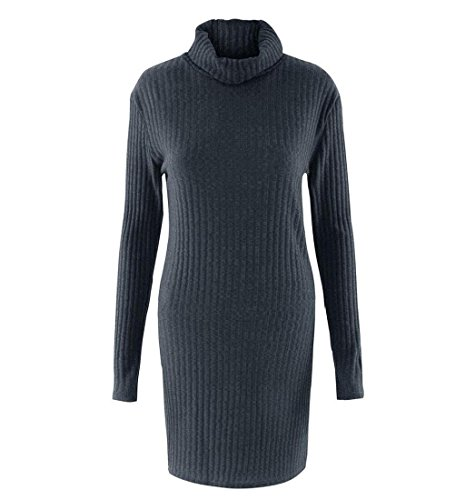 Rcool Damen Mode Langarm Pullover Rollkragen Pullover solide lässige  Kleidung Dunkelgrau ...