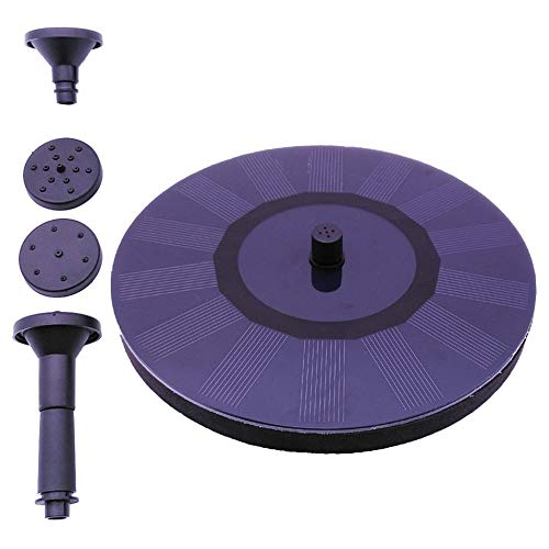 Feature:The pump will start automatically in 3 seconds when bright sunlight shines on the solar panel directly without any Shadow.This product is solar-powered decorative fountain.It is made up of highly efficient solar panel and new brushless pum...