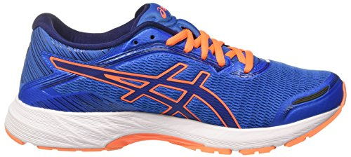 Asics Dynaflyte, Scarpe da Ginnastica Uomo Blu (Electric Blue/Indigo Blue/Hot Orange)