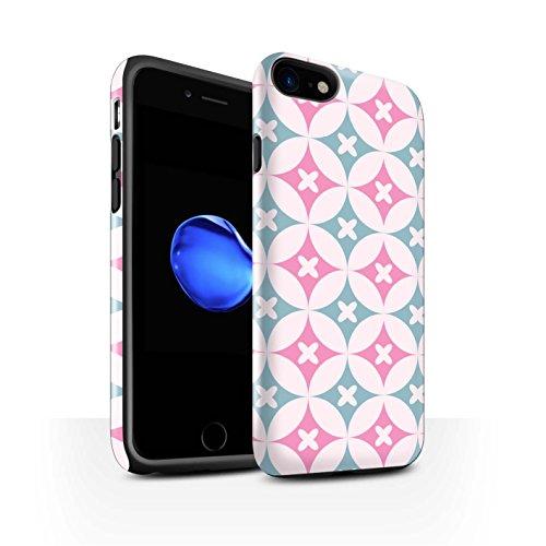 STUFF4 Glanz Harten Stoßfest Hülle / Case für Apple iPhone 8 / Blau/Braun Muster / Kaleidoskop Kollektion Pink/Blau