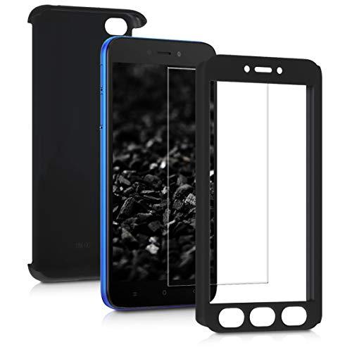 kwmobile Funda para Xiaomi Redmi Go - Carcasa Protectora Completa con Cristal Templado - Cover con Protector de Pantalla Duro
