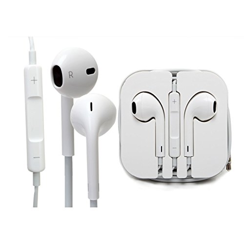 SellnShip Wired In-Ear Headphone with 3.5mm Jack & Mic for all Smartphones (White)