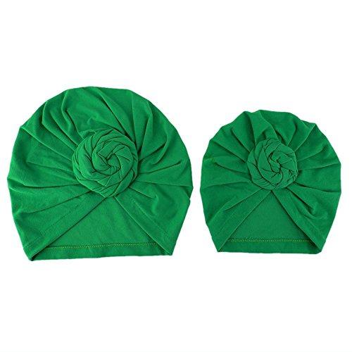 Domybest Mamma und Baby Kinder Yoga Hut Kappe Kopfbedeckung Turban Falten Hut 2pcs (Falten Mütze)