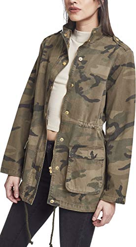 Urban Classics Damen Ladies Camo Cotton Parka, Mehrfarbig (Wood 00396), Large Camo Parka