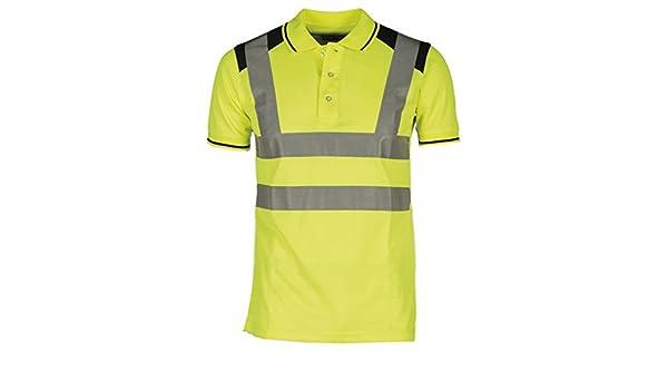 AYKRM Polo Bicolore a Maniche Corte ad Alta visibilità Abbigliamento