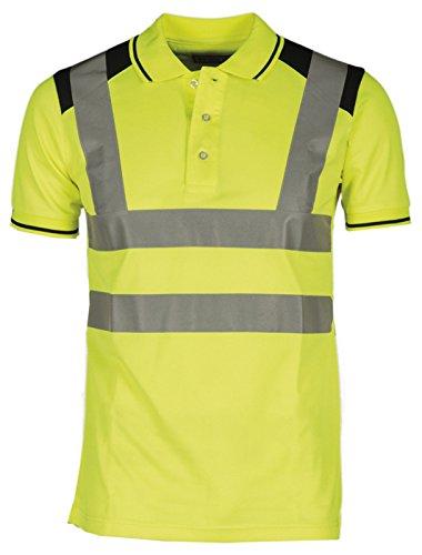Polo da lavoro alta visibilità manica corta con bande riflettenti payper guard +, colore: giallo fluo, taglia: m