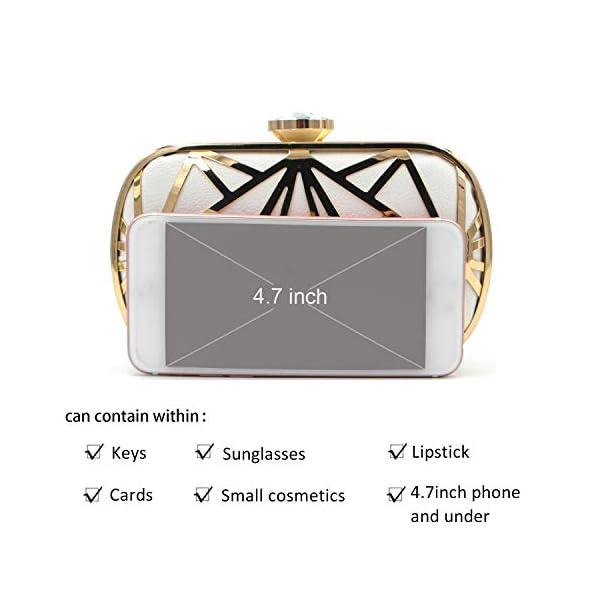 415r7safkKL. SS600  - LUI SUI Las Mujeres de Cuero de imitación de Metal Hueco Bolsa de Embrague exquisitos Bolsos de Noche Bolsas de Hombro…