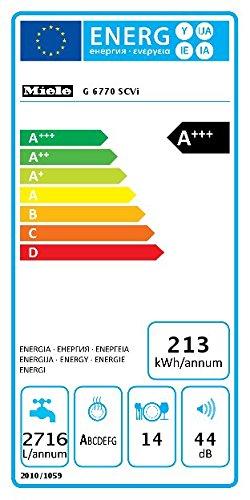 Miele G6770 SCVi D ED230 2,0 Geschirrspüler Vollintegriert / A+++ – 213 kWh  – 14 MGD – Alles restlos trocken – AutoOpen-Trocknung - 2
