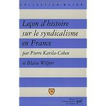 Leçon d'histoire sur le syndicalisme en France
