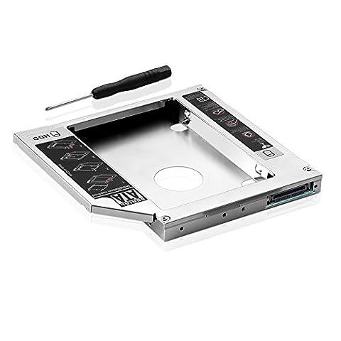 Sienoc Second disque dur universel HDD/SSD SATA Caddy Adaptateur universel pour tous les ordinateurs portables avec IDE Pour lecteur 12,7mm CD/DVD-ROM
