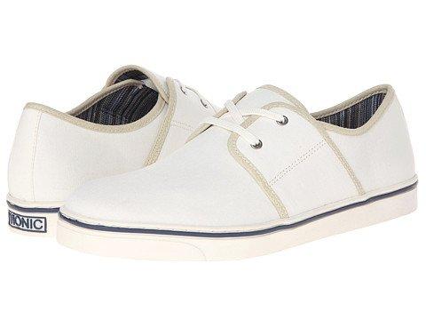 VIONIC Mens Bryson Orthaheel Canvas Sneaker Shoes, White, US 9 (Orthaheel Laufschuhe)