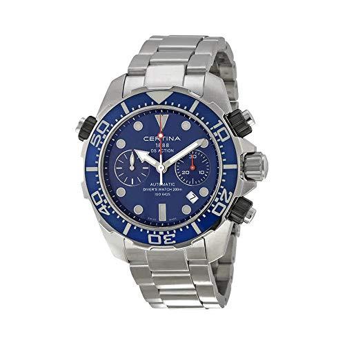 Certina DS Action Diver cronografo blu quadrante mens orologio...