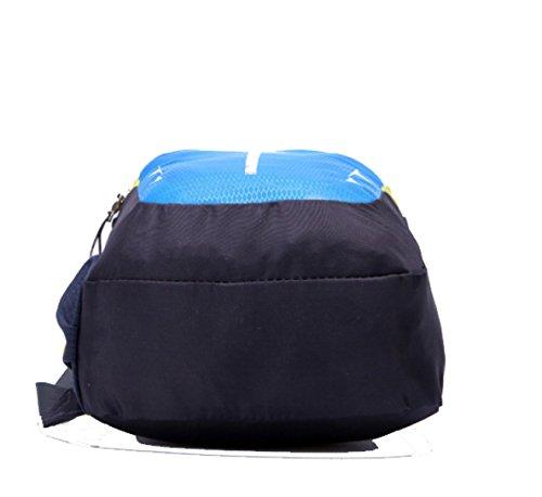 BULAGE Tasche Brusttasche Einfach Im Freien Erholung Klein Mode Reisen Süßigkeiten Hell Luft Wasser Licht Lightblue