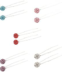 Nakshathra Collection SILVER Metal Hair Pin for Women (UHPU43)