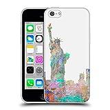 Head Case Designs Officiel Aimee Stewart New York Skyline Paysages Étui Coque en Gel Molle pour iPhone 5c