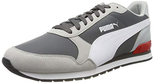 PUMA ST Runner v2 NL, Zapatillas Unisex Adulto, Castlerock-High Rise White-High Risk Red, 37.5 EU