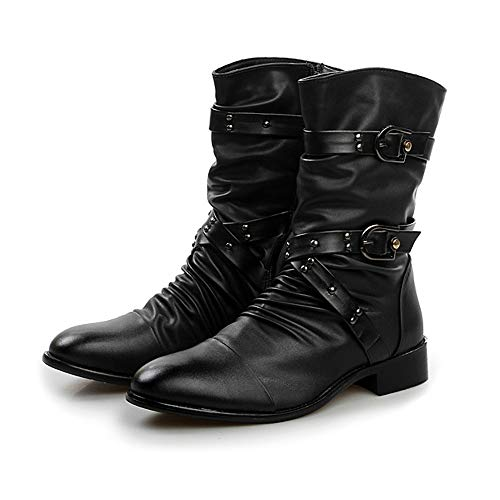 Color : Kaki, Taille : 42 EU Xiaojuan-boots Botte de Travail décontractée à la Cheville Confortable pour Hommes avec Semelle extérieure Style Britannique