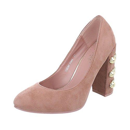 Hauts Femme Design à Ital Pink DD59P Talons Chaussures XqdIA