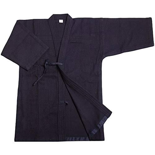 Kostüm Den Japanischen Karate - G-like Kendo Kenjutsu Uniform - Traditionelle Japanische Schwertkampfkunst Kostüm Karate Ninja Aikido Training Kleidung Keikogi Jacke Hakama Hose für Männer Frauen (Blau, M)