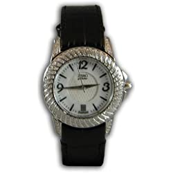 ZZero zbcarato - Clock, Borrego Black Leather Strap