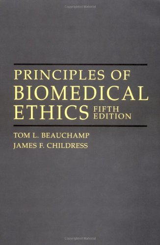 Principles of biomedical ethics fifth edition