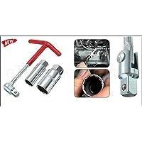 K&F Stabiles T-Griff Set Werkzeug mit 16mm + 21mm Nuss Zündkerzenschlüssel Stecknuss zum Kerzenwechsel bei PKW Motorrad ATV Quad