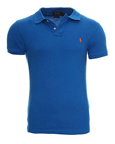 Ralph Lauren Poloshirt small pony, Custom Fit, verschiedene Farben NEU Royal oranges Pony